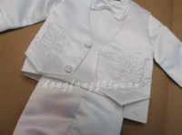 Wholesale 2015 Spring Kid Baby Boy Baptisim Clothing Set Toddler Christening Clothes set clothes for dog lovers