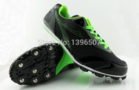 Zapatos al por mayor de vía TrackField zapatos corrientes de las carreras se dispararon los zapatos seguimiento profesional spike zapatos de salto de longitud de la alta calidad Envío Gratis