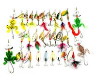 Cheap Hengjia 29pcs Spinners Fishing Lure Mixed color Size Weight 3~10G Metal Spoon Lures hard bait fishing tackle Atificial bait free shpping