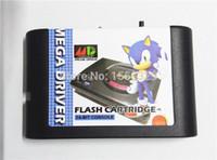 Wholesale JACK DIY china version SEGA GENESIS MEGA DRIVER md flash cartridge SEGA Game Card European cart shell Hot Sale