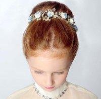 Niños Beautiful Girls del aro del pelo de la manera del pelo de cerámica Princesa Tocado hijos de las flores se visten accesorios 2016 nuevo estilo