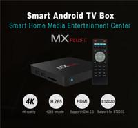 Wholesale 2016 MX Plus II TV Box RK3229 Quad Core Android Kitkat G G H Kodi Pre installed Smart Media Player VS MXQ Pro T95M M8S