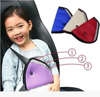 Wholesale DHL Protective Children Safety Belt Conditioner Applied Mesh Kids Safety Triangle Belt Holder Car Seat Heart Cushion Pad