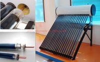 JJL 20 tubos de calor de tubería del calentador de agua solar, sistema de calentamiento de agua de alta presión compacta solar colector de energía con la bobina de cobre