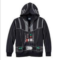 Wholesale Star Wars Jacket Children Clothing Hoodie Long Sleeve Outwear Tops Cartoon Stars War Hoodies Jackets D6236