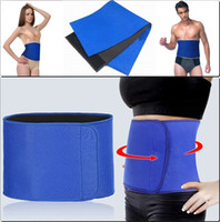 weight loss body wraps - High Quality Soft Slim Fit Waist Trimmer Support GYM Exercise Wrap Belt Slimming Burn Fat Sweat Weight Loss Body Shaper QCD