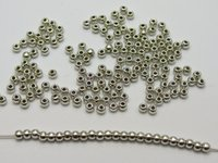 Wholesale 2000 Silver Tone Plastic Round Spacer Beads mm Smooth Ball Beads
