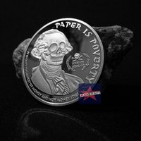 paper money - GHOST MONEY PAPER IS POVERTY LIBERTY Coin Plated Silver oz Silver Plated Coin Souvenir coin Commemorative Coin OZ