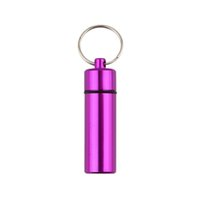 drugs - 1PC High Quality Waterproof Aluminum Pill Box Case Bottle Cache Drug Holder Keychain Container PromotionHot New Arrival