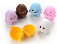 egg container - 200pcs Portable Cute expression Eggs house candy BOX waterproof shockproof storage container