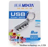 Wholesale MIXZA USB FLASH DRIVE GB GB GB real LED Iron Man Memory Stick Flash Drive Storage USB Memory