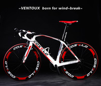 Wholesale Cool carbon COOL complete bike carbon road bike VENTOUX whole bike frame groupset saddle bar wheels bicicleta road bike fit DI2