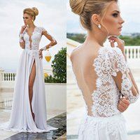 Cheap A-Line Boho Wedding Gowns Best Reference Images 2016 Spring Summer Bohemian Wedding Dresses