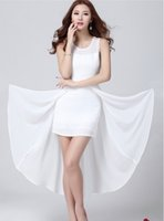 ladies white skirt - White Black Colors Fashion Skirts Women Summer Chiffon Skirts Beach Party Dress Sexy Ladies Dress Maxi Skirt Girl Long Skirt