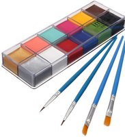 Wholesale Face Body Paint Oil Painting Art Cosmetic Make Up Set Tools Party Fancy Dress Flash Tattoo Color Paint Brush