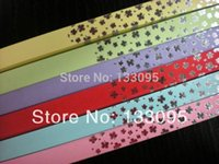 Wholesale colorful Korean origami lucky star paper folding multicolor wish Gift lovely LOVE strips