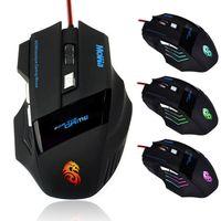 Wholesale Black Mini DPI USB Button LED Optical D Mouse Scroll Wheel LED Light Mouse for PC Laptop Computer