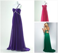 Cheap Reference Images Prom Dresses long Best One-Shoulder Chiffon peacock prom dress