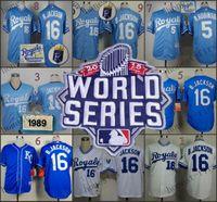 american jackson - 2015 World Series Kansas City Royals Bo Jackson Home Road Wholesales Cheap American baseball jerseys Embroidery Logo Mix Order