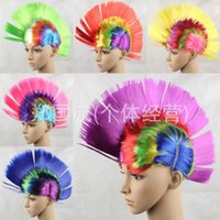 Wholesale Halloween carnival party wig color wig rooster comb hair wig cosplay wig Brazil JIA239