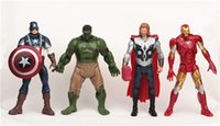 Wholesale The Avengers Hulk Iron man Captain American Thor figures action kids cm cm Toy Model baby birthday gifts