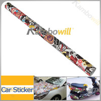 Wholesale Cool quot x60 quot JDM Vinyl Car Auto Sticker Bomb Wrap Funny Cartoon Phone Laptop Wall Motorcycle Styling Decal Film Sheet cmx150cm