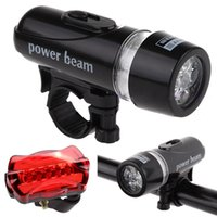 Wholesale Waterproof Ultra Bright LED Cycling Bicycle Light Set Bike Front Head Light Lamp LED Rear Safety Flashlight Taillight