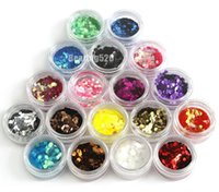 big nail extensions - New Colors Big Hexagon Glitter Nail Art Decoration Nail Art Glitter Powder Nail Extension Nail tools