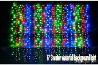 background drop - 110V V Colors M bulbs Curtain LED Light US EU UK AU plug Wedding Xmas Party Background Decoration Free drop shipping