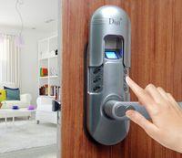 Wholesale ASSA ABLOY DIGI Weatherproof Digital Electronic Keypad Door Fingerprint Door Lock Keylock satin chrome Right Lever handle