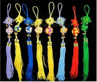 Wholesale Chinese Handmade Embroidery Knot Strap Charm With Bell