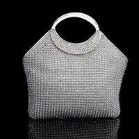 Wholesale Woman Shiny Diamond Evening Bag Handbag Girls Fashion Crystal Purse Clutch Wallet for Wedding Party love034