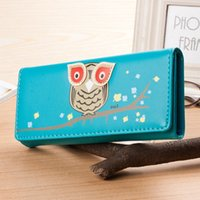 leather owl purse - new arrival Owl Cartoon Women Wallets Leather Wallet Cute Holder For Money Clutch Coin Purse Colors