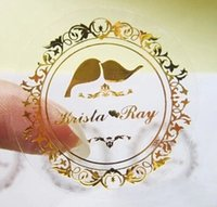 Wholesale Professional new Customize transparent Adhesive Sticker Label for Wedding wedding gift box stickers
