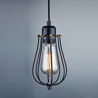 Wholesale Vintage Light Bulb Retro Industrial Edison Light Metal Shade Ceiling Pendant Lamp Fixture Black With bulb