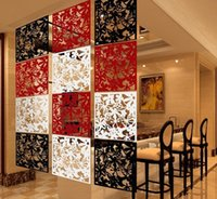 Wholesale 4pcs Butterfly Flower Wall Sticker Hanging Screen Curtain Room Divider Partition