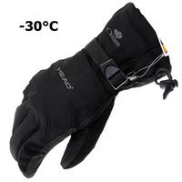 waterproof gloves - New man Winter Ski sport waterproof double gloves black degree warm riding gloves snowboard Motorcycle gloves
