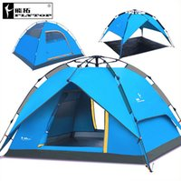 beach fishing equipment - Flytop outdoors Tourism equipment camping tent family for fishing beach garden awning travel person automatic tent