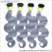 beauty wave purple - New Arrival A Russian Virgin Hair Grey Purple hair Body wave Unprocessed remy Hair Hot Beauty Hair Product