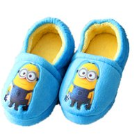 Wholesale 2015 New Winter Minions Child Household Shoe Bag Minions Chrismas Gift Cotton Slippers Winter Slippers Warm Shoes