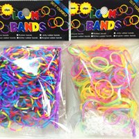 Cheap glow in the dark Rainbow Loom Bands Tie dye gllitter 300pc Bands & 12 S Clips mixed colors Refill free shipping