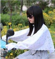 Wholesale Summer female long sleeve Anti uv sunscreen Shirt electric Bicycle sun Cape Fashion Sun protection cloak