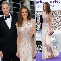 beauty kate - Kate Middleton Celebrity Jenny Packham Dress Sequins Beauty Full Length Red Carpet Dresses Evening Dresses New Arrival