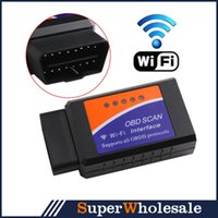 Wholesale WIFI ELM327 OBD2 for iPhone ipad iPod ELM327 OBD2 Auto Scanner Adapter Scan Tool for Smartphone