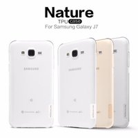 "Cheap For Samsung Galaxy J7 TPU Case Original ""NILLKIN"" Nature Clear Flexible Phone Cover Ultra Slim Fit 0.6mm Transparent Soft"