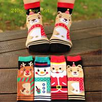 Wholesale Snow Korean Fashion - hottest 2015 christmas Socks cute autumn winter South Korean style Fashion Cotton Christmas snow men pandas Socks