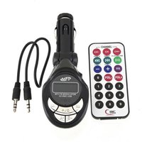 Wholesale Car MP3 FM Transmitter Player Audio Radio Modulator Kit USB CD MMC Remote Hot Style Cheap Price