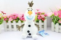 Wholesale 20pcs Best Gift Cartoon Movie Frozen Olaf Plush Toys For Sale cm contain the cornor height Cotton Stuffed Dolls Size S