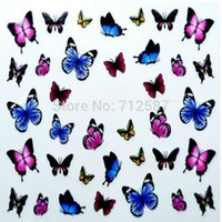 Wholesale 3D Design cute DIY watermark butterflies Tip Nail Art Nail Sticker Nails Decal Manicure nail tools