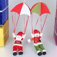 parachute fabric - Christmas ceiling decoration Xmas Ornament Supplies Parachute Christmas Snowman Pendant Santa Claus Snowman Atrium Accessories party supplie